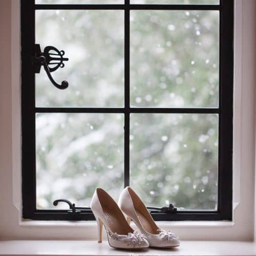Elvetham wedding in snow