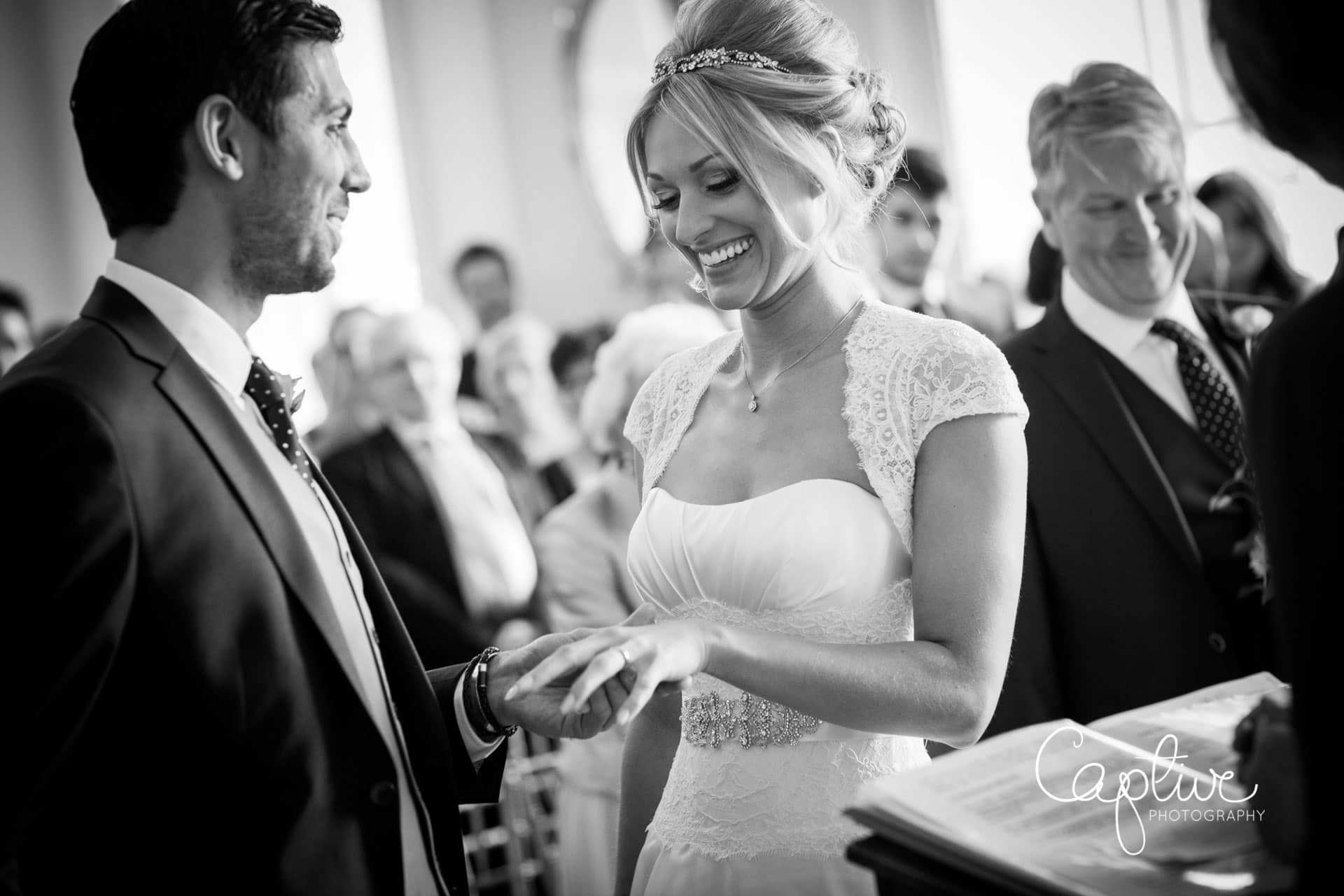 Surrey wedding photographer at Botleys Mansion