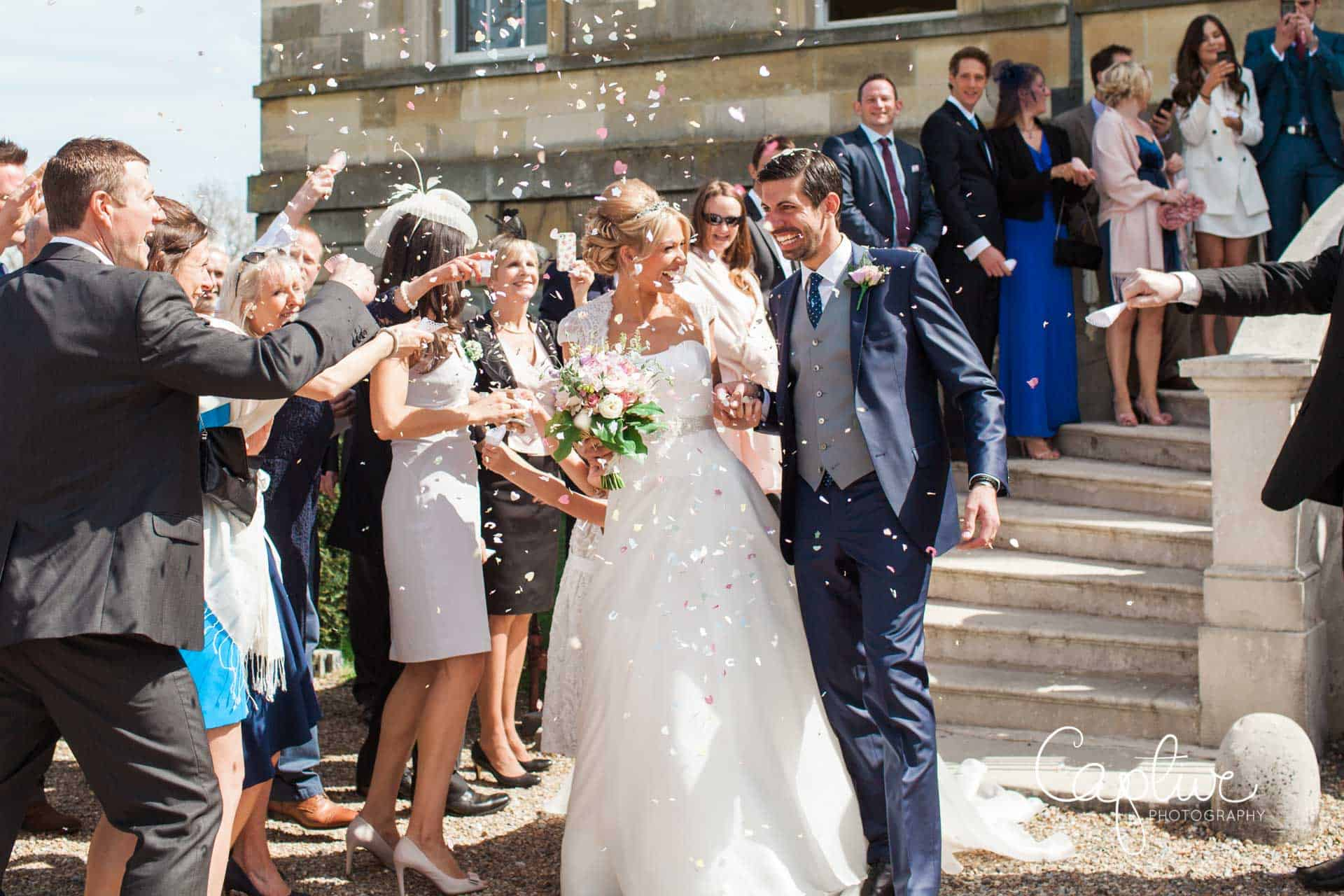 Confetti at Botleys Mansion wedding