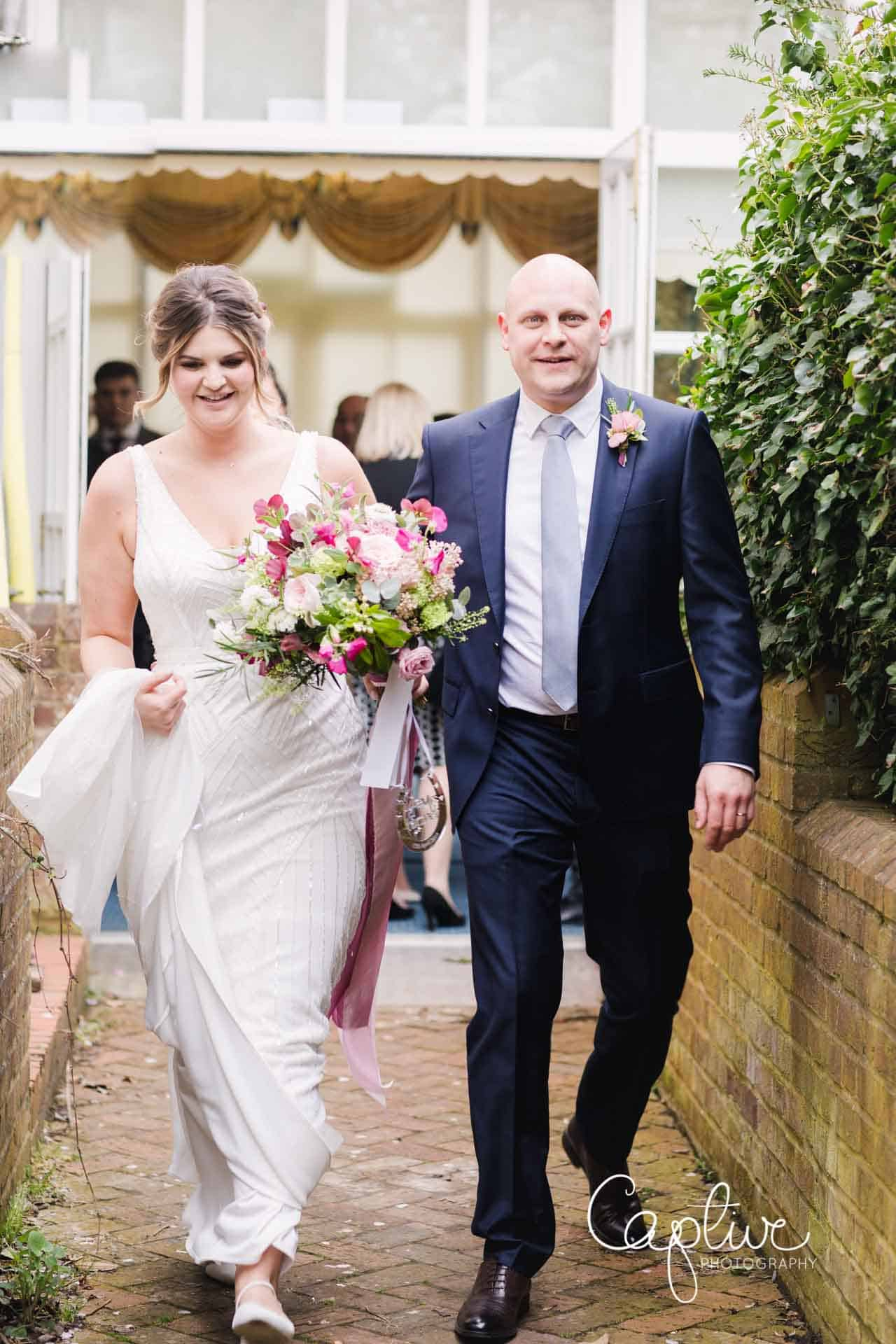 Leatherhead Register Office wedding by Captive Photography